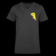 T-Shirts ~ Men's V-Neck T-Shirt by Canvas ~ Smaller Logo - V Neck