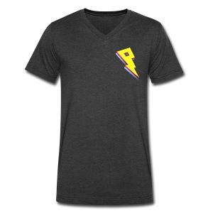 Smaller Logo - V Neck - Men's V-Neck T-Shirt by Canvas
