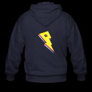 Hoodies ~ Men's Zip Hoodie ~ Smaller Logo - Fleece Jacket