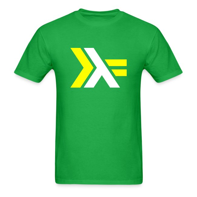 White Yellow Haskell logo