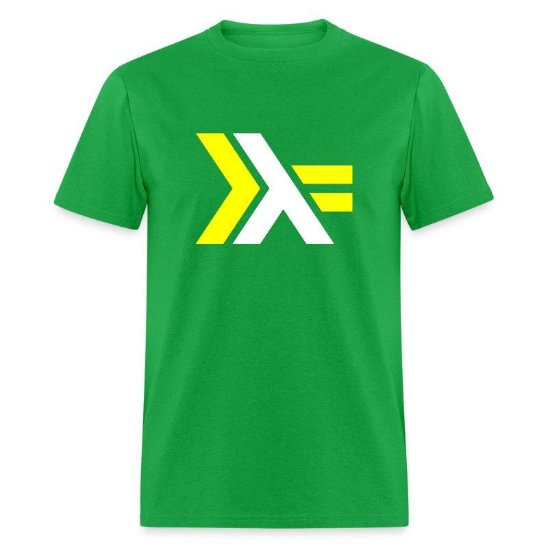 White Yellow Haskell logo - Men's T-Shirt