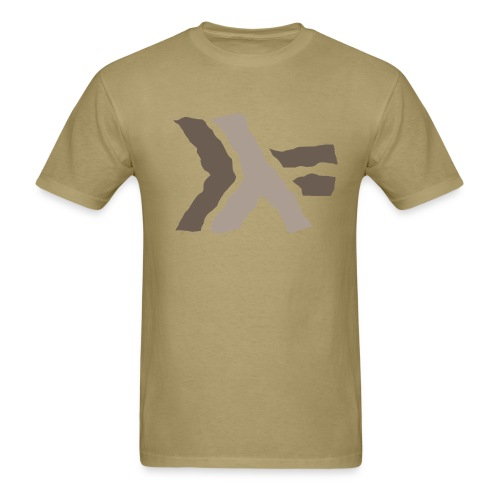 Haskell logo large with khaki coloring - Men's T-Shirt