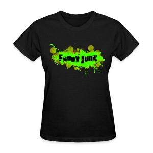 Green FunnyJunk Splatter - Women's T-Shirt