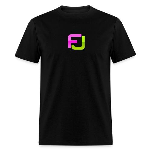 FJ Futuristic Logo Initials - Men's T-Shirt