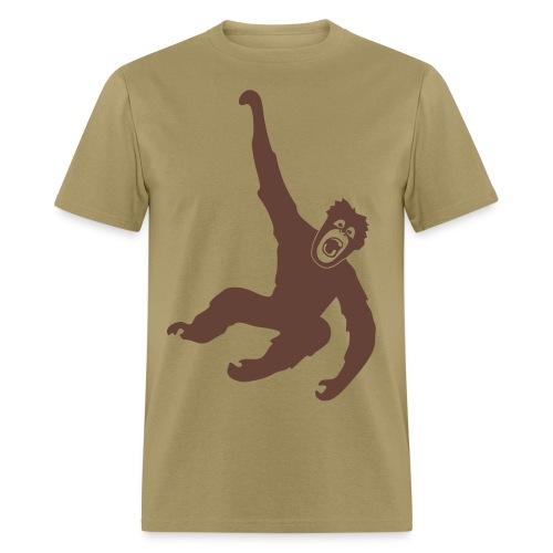 animal t-shirt gorilla ape monkey king kong godzilla silver back orang utan chimp T-Shirts - Men's T-Shirt