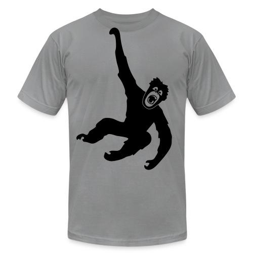 animal t-shirt gorilla ape monkey king kong godzilla silver back orang utan chimp T-Shirts - Men's Fine Jersey T-Shirt