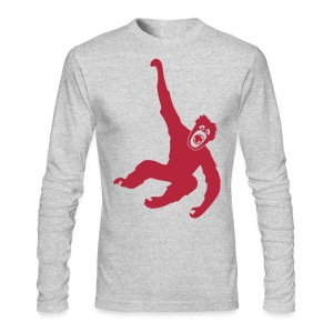 animal t-shirt gorilla ape monkey king kong godzilla silver back orang utan chimp T-Shirts - Men's Long Sleeve T-Shirt by Next Level