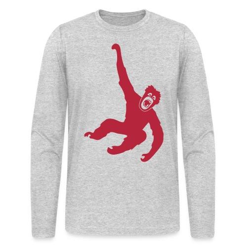 animal t-shirt gorilla ape monkey king kong godzilla silver back orang utan chimp T-Shirts - Men's Long Sleeve T-Shirt by Next Level