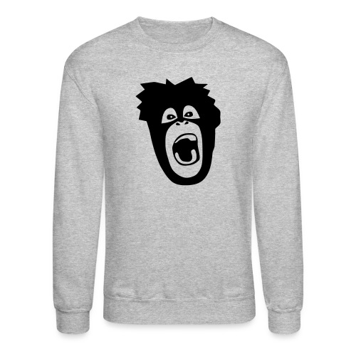 animal t-shirt gorilla ape monkey king kong godzilla silver back orang utan T-Shirts - Crewneck Sweatshirt