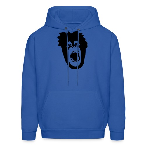 animal t-shirt gorilla ape monkey king kong godzilla silver back orang utan T-Shirts - Men's Hoodie