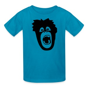 animal t-shirt gorilla ape monkey king kong godzilla silver back orang utan T-Shirts - Kids' T-Shirt
