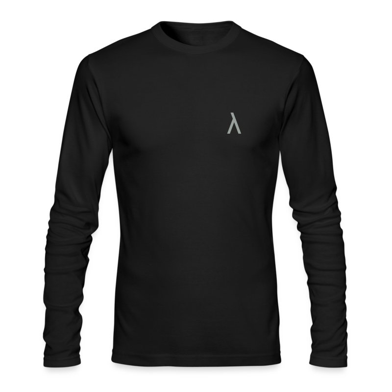 Small Gray Lambda Symbol  - Men's Long Sleeve T-Shirt by Next Level