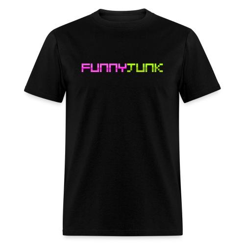 FunnyJunk Pixel Logo - Men's T-Shirt
