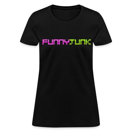 FunnyJunk Pixel Logo - Women's T-Shirt