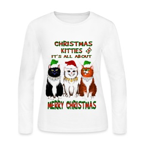 Christmas Kitties (Cat Lovers) - Women's Long Sleeve Jersey T-Shirt