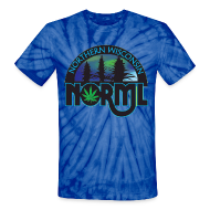 T-Shirts ~ Unisex Tie Dye T-Shirt ~ Tie Dye Classic.  Logo on front and back of shirt.