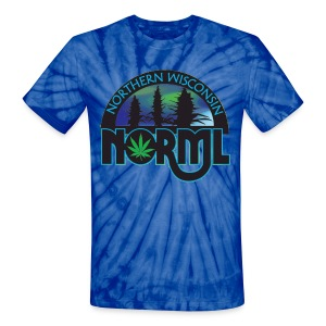 Tie Dye Classic.  Logo on front and back of shirt. - Unisex Tie Dye T-Shirt