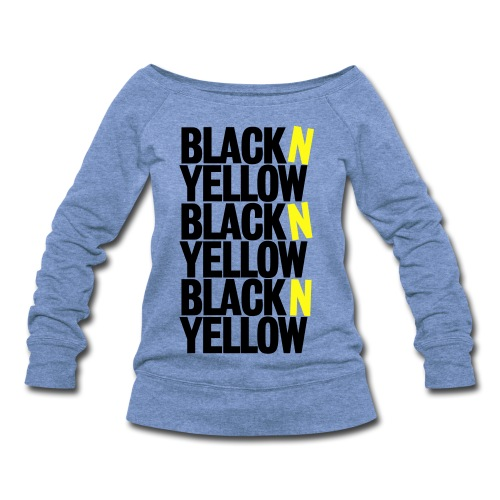 Black N Yellow Women's Wideneck - Women's Wideneck Sweatshirt