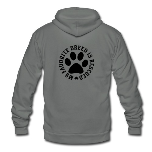 Unisex Fleece Zip Hoodie - THICK  AND DURABLE HOODIE FOR WONDERFUL ANIMAL RESCUERS!