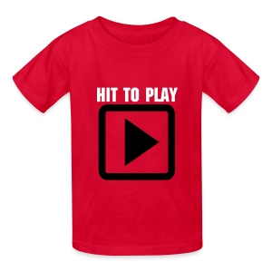 SMASH Hit To Play Children's Tee Shirt DANGER WARNING - Kids' T-Shirt