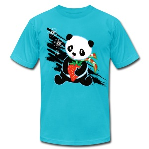 Cute Kawaii Panda T-shirt by Banzai Chicks - Men's T-Shirt by American Apparel