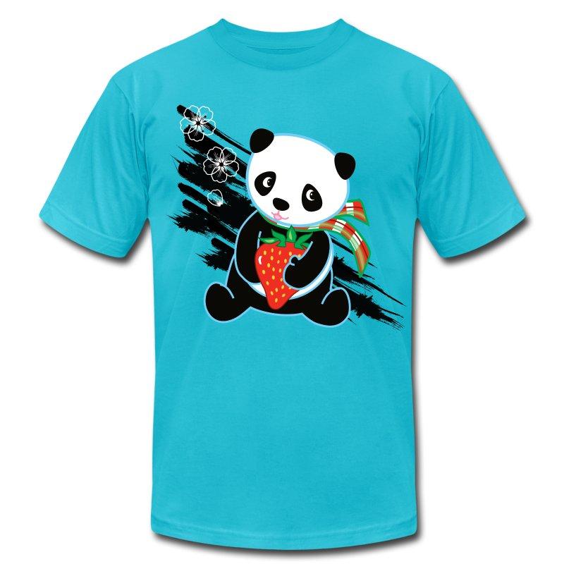 Cute Kawaii Panda T-shirt by Banzai Chicks - Men's Fine Jersey T-Shirt