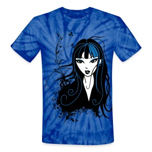 The Punk Chick Gothic Girl Unisex T-shirt - Unisex Tie Dye T-Shirt