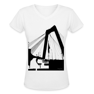 The Bridge - Women's V-Neck T-Shirt