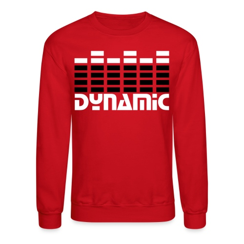 Ian's Idea, Unisex Red DynaMic CrewNeck - Crewneck Sweatshirt