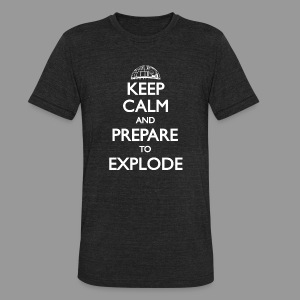 Keep Calm Vintage - Unisex Tri-Blend T-Shirt by American Apparel