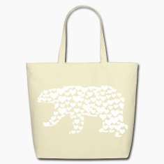Kantno Polar Bear Hearts Tote