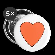 Buttons ~ Large Buttons ~ Nick Pitera Heart Buttons