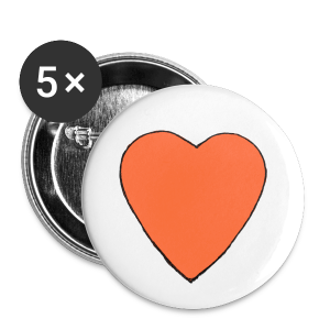 Nick Pitera Heart Buttons  - Large Buttons