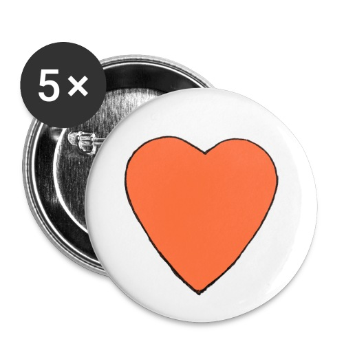 Nick Pitera Heart Buttons  - Buttons large 2.2'' (5-pack)