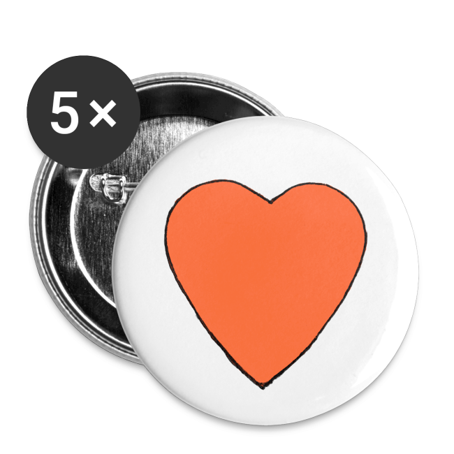 Nick Pitera Heart Buttons
