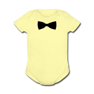 bow tie - Short Sleeve Baby Bodysuit