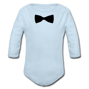 bow tie - Long Sleeve Baby Bodysuit