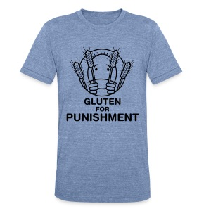 Gluten for Punishment. [Men's Heather Jersey] - Unisex Tri-Blend T-Shirt by American Apparel