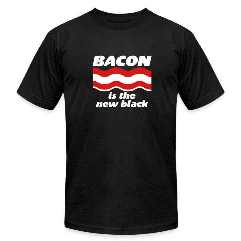 Bacon is the new black. [Men's AA] - Men's T-Shirt by American Apparel