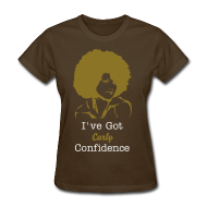 T-Shirts ~ Women's T-Shirt ~ I've Got Curly Confidence T-Shirt Brown/Gold
