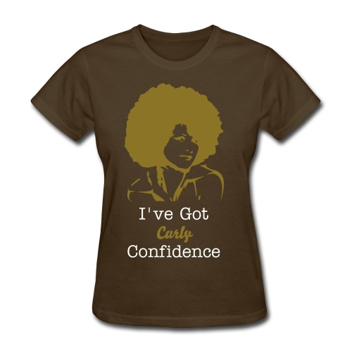 I've Got Curly Confidence T-Shirt Brown/Gold - Women's T-Shirt