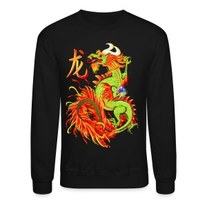 Flaming Dragon and Symbol - Crewneck Sweatshirt