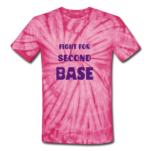 Breast Cancer: Save Second Base - Unisex Tie Dye T-Shirt