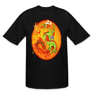 Year Of The Dragon and Symbol - Men's Tall T-Shirt