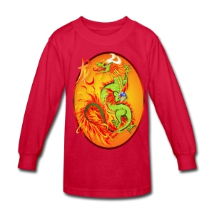 Year Of The Dragon and Symbol - Kids' Long Sleeve T-Shirt