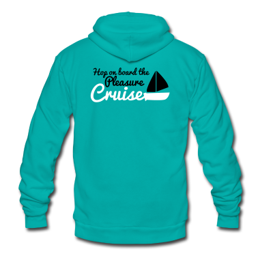 hop on board the pleasure cruise with sailboat Zip Hoodies/Jackets