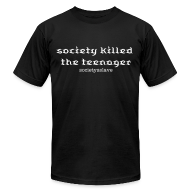 T-Shirts ~ Men's T-Shirt by American Apparel ~ society killed the teenager