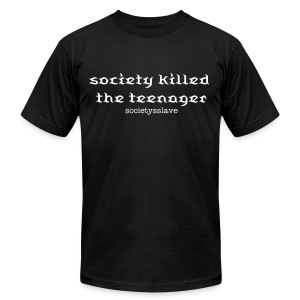 society killed the teenager - Men's T-Shirt by American Apparel