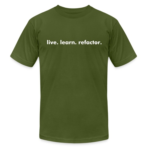words to live by - Men's  Jersey T-Shirt