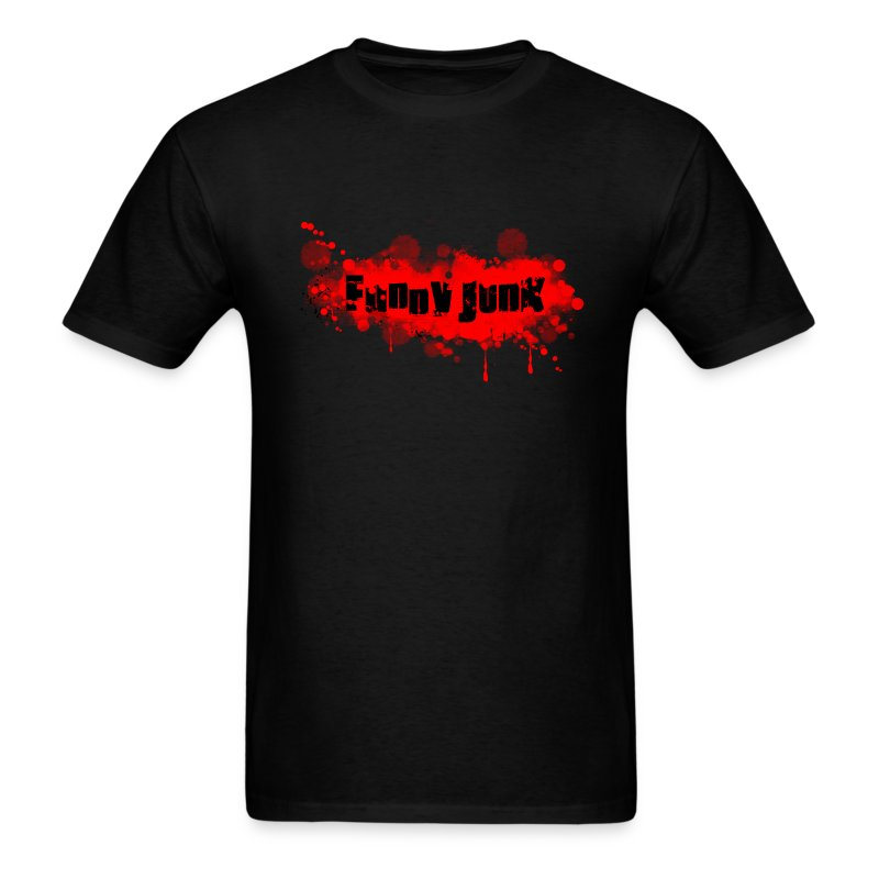Red FunnyJunk Splatter - Men's T-Shirt